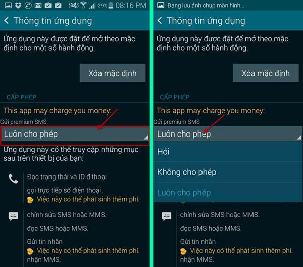Sửa Sony XA1 không gửi được tin nhắn