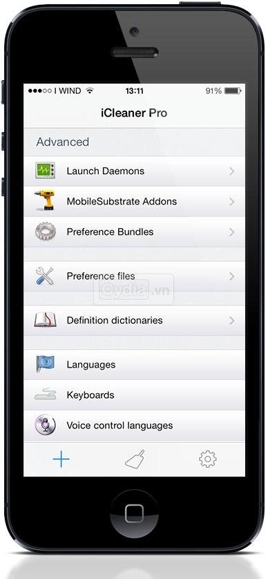 Cài đặt iCleaner Pro dọn rác cho iPhone
