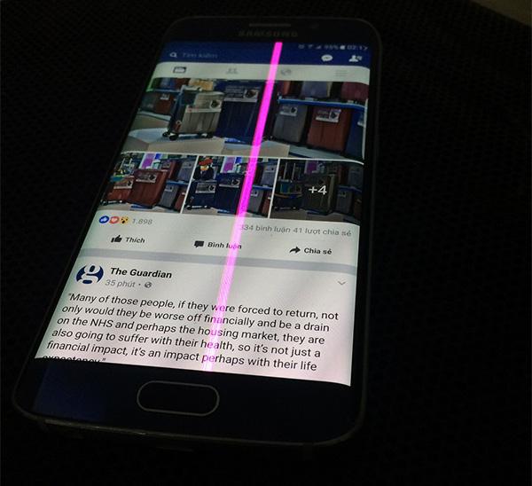 Samsung S6 bị sọc màn hình