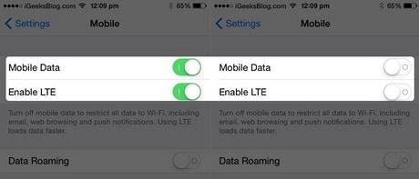 Khắc phục iPhone 6 không bật được 3G