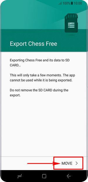 """Chọn mục """"Move"""" để di chuyển ứng dụng sang thẻ nhớ"""