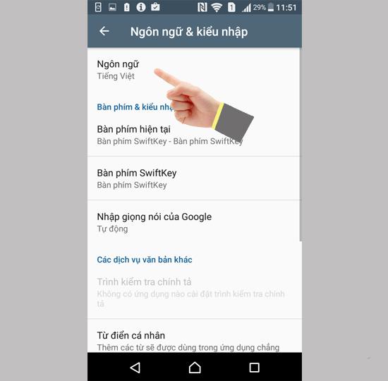 cách cài tiếng việt cho android