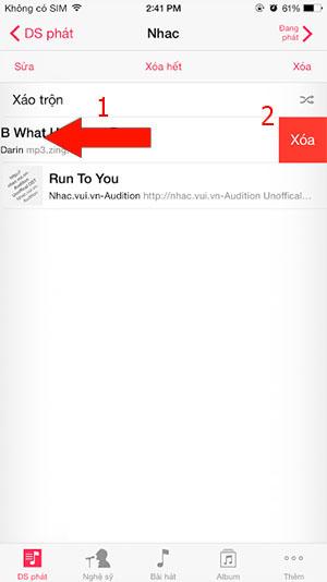 Cách xóa nhạc trong iPhone
