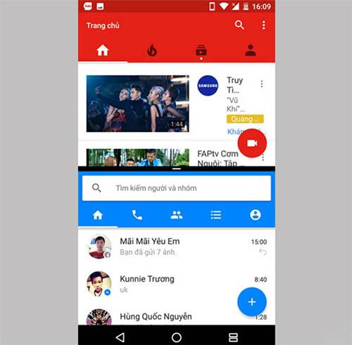 Cách chia đôi màn hình Android