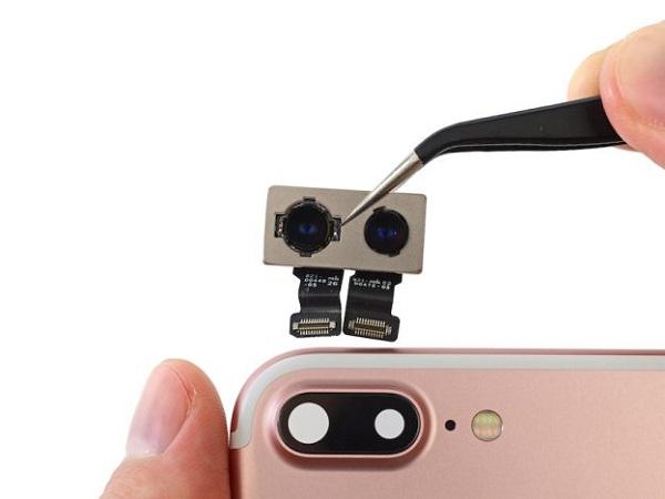 khắc phục camera trước iphone 7 bị đen