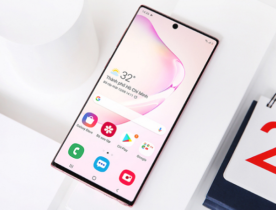 loi samsung note 10 nong may
