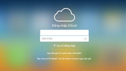 Sử dụng iCloud