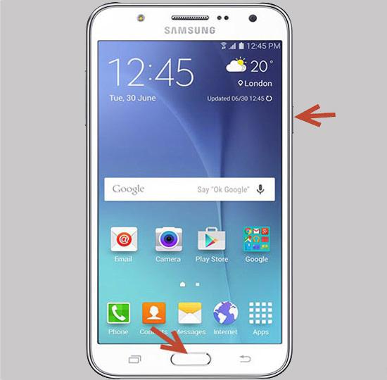 Chụp ảnh màn hình Samsung J5 2016 bằng phím cứng
