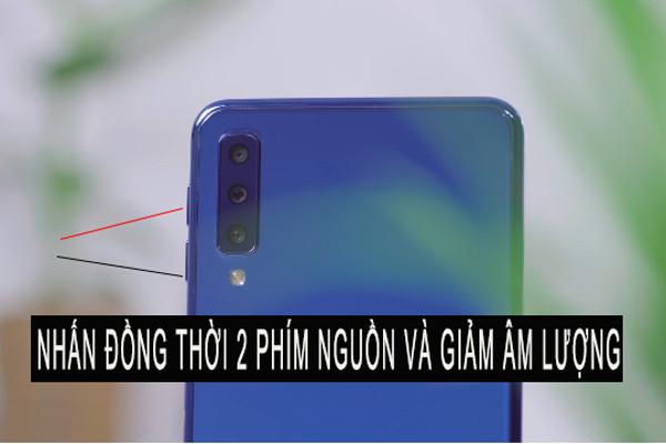 Chụp màn hình Samsung a7 bằng phím cứng