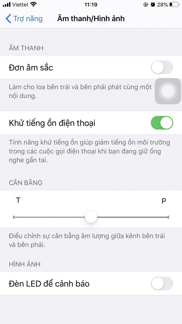 Bật đèn LED cảnh báo iphone