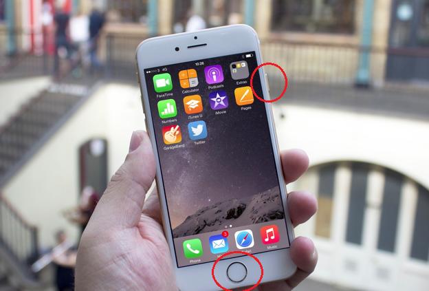 chụp màn hình iPhone 6s
