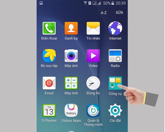 Mục công cụ Samsung