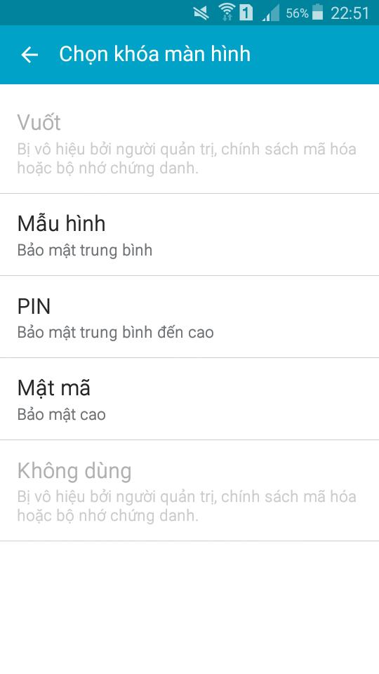 xóa mật khẩu màn hình Samsung