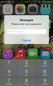 cách bảo mật tin nhắn iPhone 7
